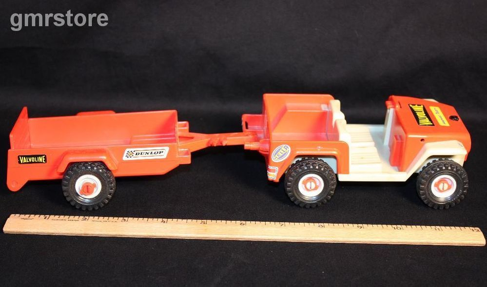 Playmobil Orange Valvoline Jeep Front Suspension Xs 137 And Trailer Xs 204 B Preschool Toys Playmobil Toys