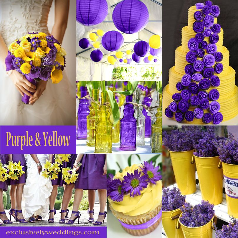 Purple And Yellow Wedding Color Combinations