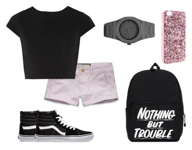 """""""Hanging with friends"""" by beckhambestie ❤ liked on Polyvore featuring Abercrombie & Fitch, Alice + Olivia, Vans, Victoria's Secret, CC, women's clothing, women's fashion, women, female and woman"""