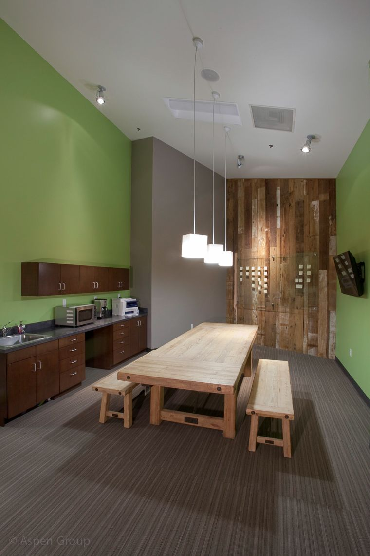 Modern Church Youth Rooms: Mix Of Rustic Elements, Like The Green Accent Wall, It
