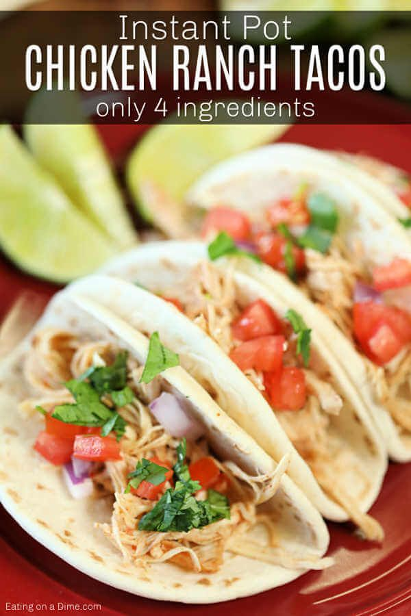 Instant Pot Chicken Ranch Tacos images