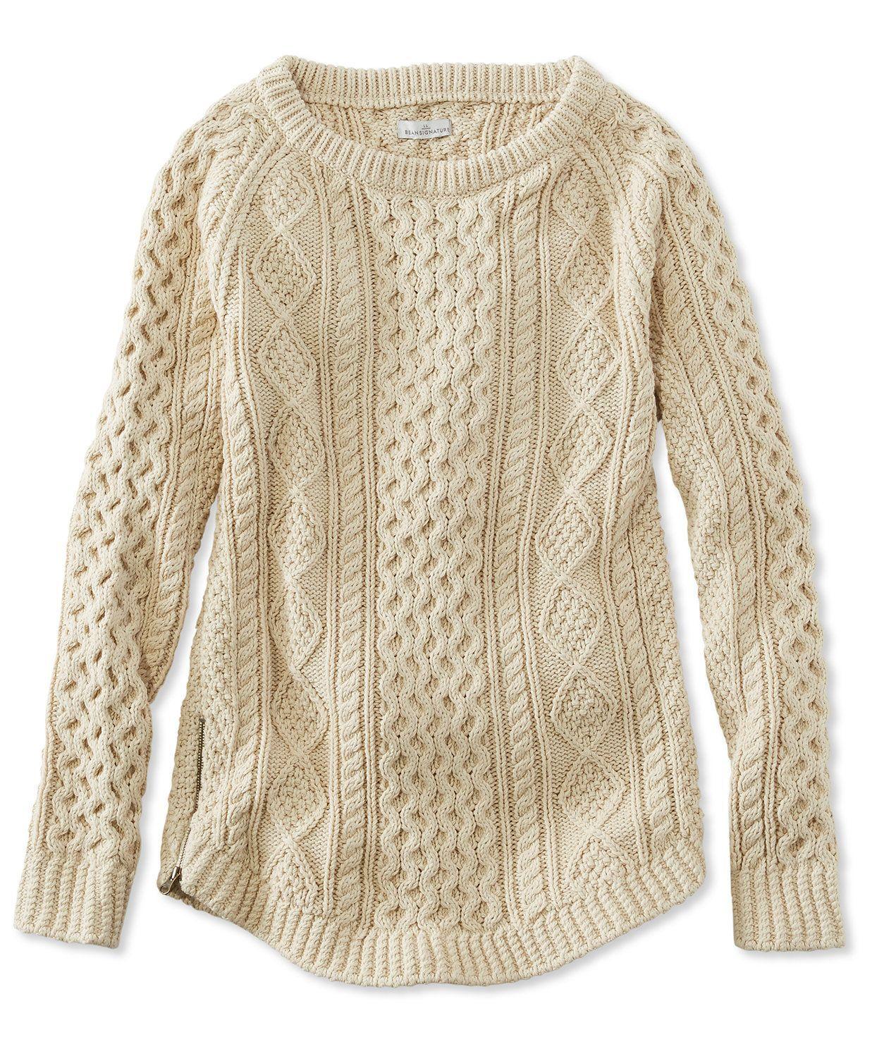 Signature Cotton Fisherman Tunic Sweater | Clothing | Pinterest ...