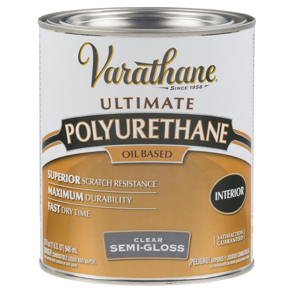 Varathane 1 Qt Clear Semi Gloss 275 Voc Oil Based Interior Polyurethane 2 Pack Interior Wood Stain Polyurethane Floors Minwax Gel Stain