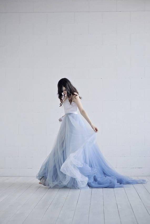 Dusty blue Ombre Wedding Dress | Dress