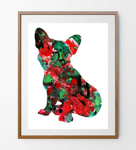 French Bulldog art Print watercolor illustration by MimiPrints