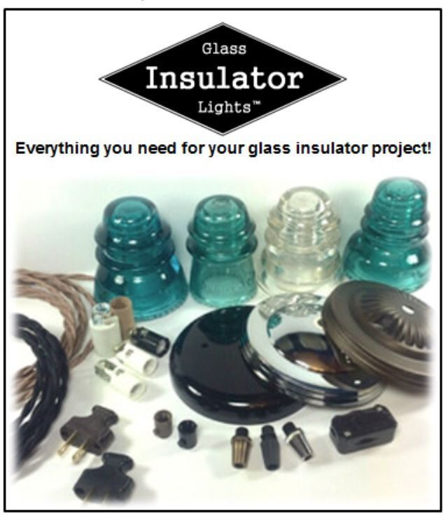 Glass insulator light supplies diy glass insulator lights glass insulator light supplies aloadofball Image collections