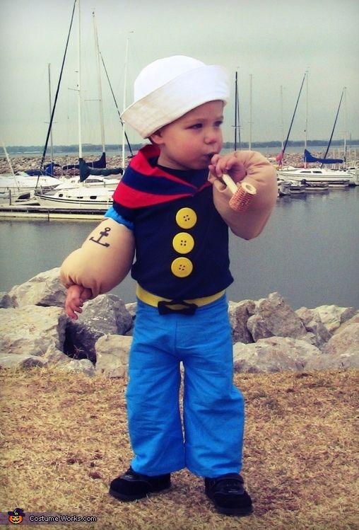 Lil\u0027 Popeye the Sailor Man Baby Costume - homemade halloween costume ideas men