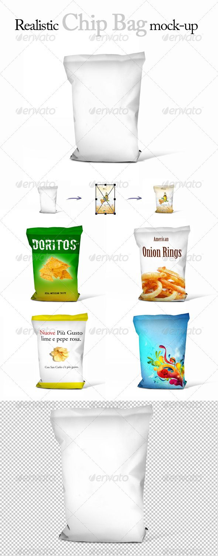 Download Realistic Chips Bag Mock Up Packaging Mockup Bag Mockup Mockup Design