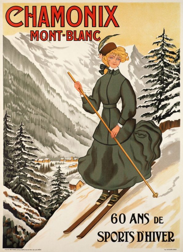 c4500d786 Chamonix - Mont Blanc | Travel Advertising | Ski posters, Vintage ...