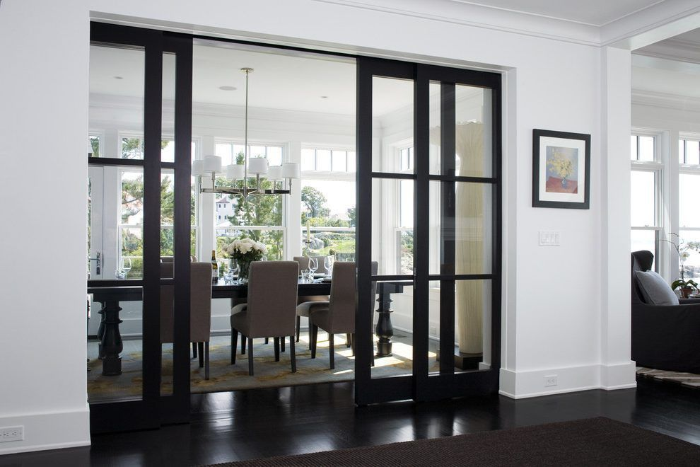 Dining Room Doors Ideas Dining Room Transitional With Glass Panel