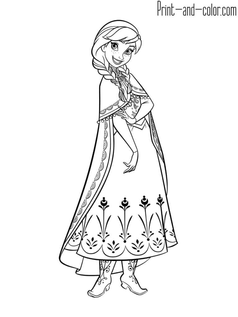Frozen coloring pages in 2020 | Disney princess coloring ...