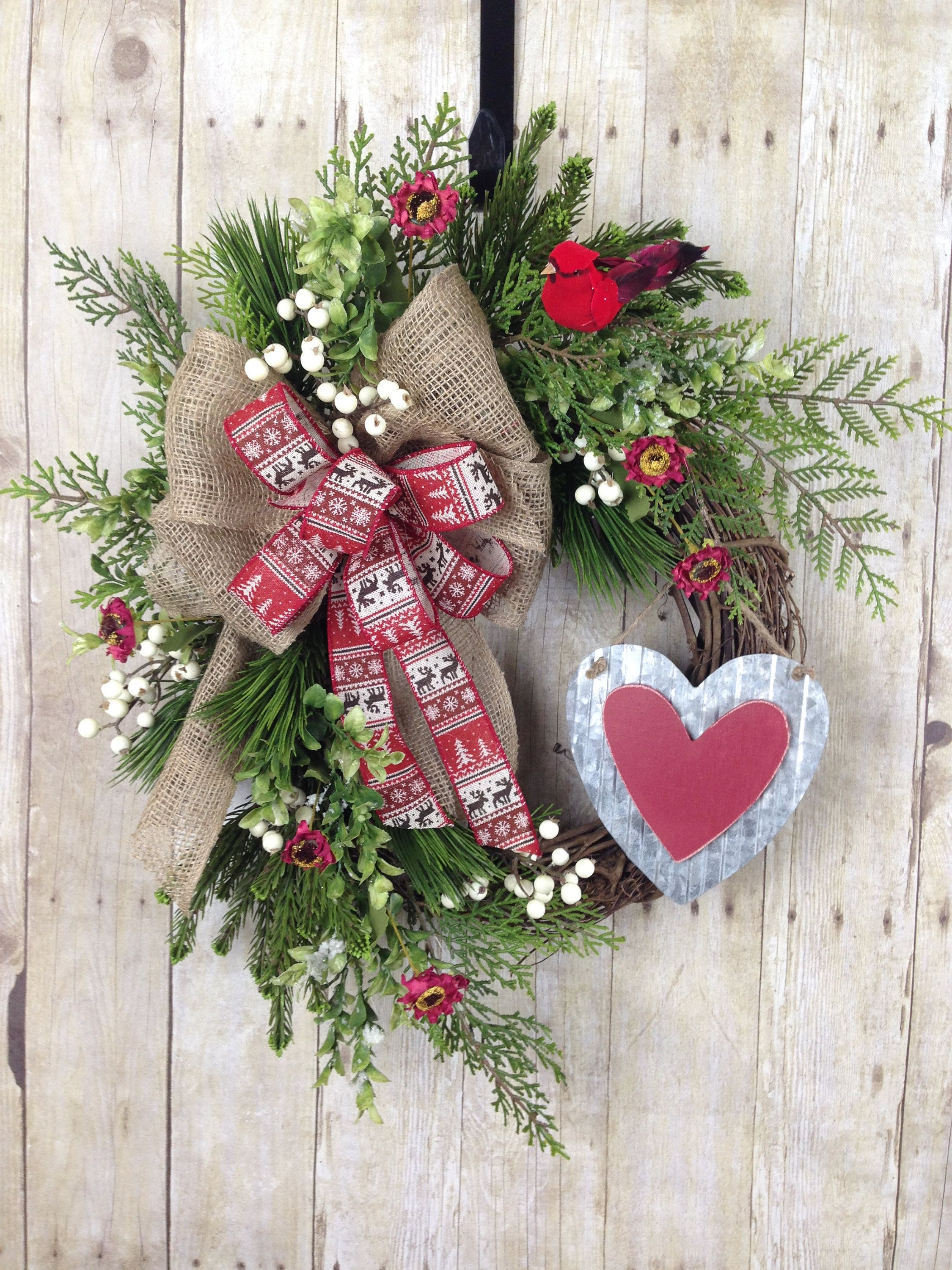 Christy Hodges Valentines Day Wreath For Front Door Etsy Rustic Valentine Valentine Decorations Rustic Valentine Decor