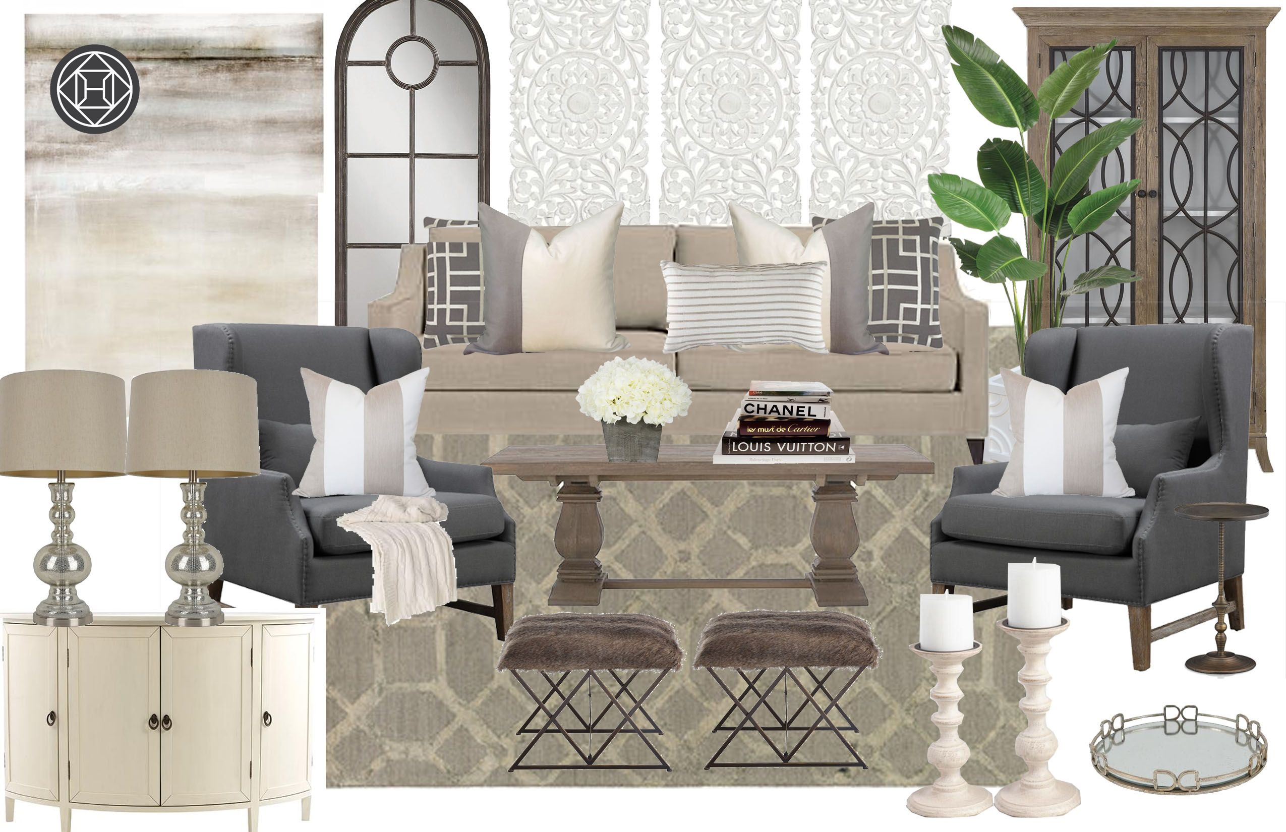 Check out my living room design by Havenly!