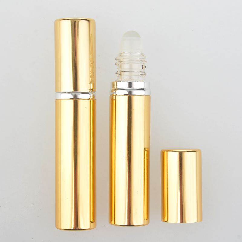 2 Pieces Lot 10ml New Style Fashion Aluminum Perfume Bottle With Roll On Empty Refinement Essential Oils Case Essential Oil Case Perfume Bottles Essential Oils