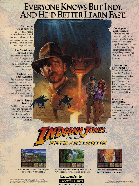 15 Adverts For Lucasarts Games Wish They Were Still Around Indiana Jones Lucas Arts Indiana