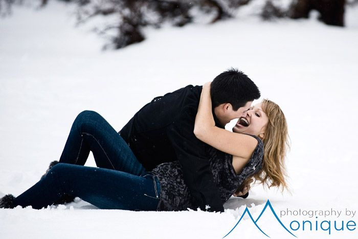 Winter Engagement Session In