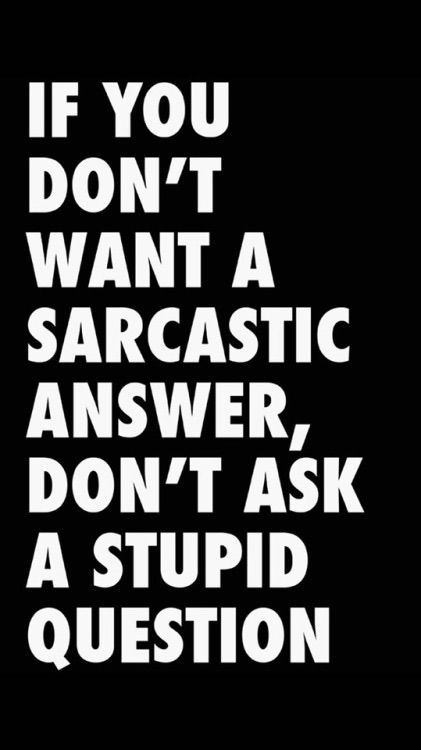 Sarcastic I'm just saying - Cooking Styles