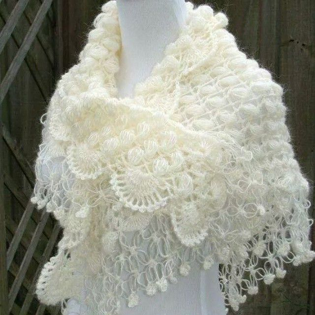 wedding shawls for winter | Tejido | Pinterest | Chal, Tejido y Ponchos