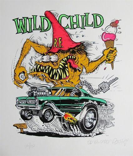 Ed Big Daddy Roth Wild Child Rat Fink Signed