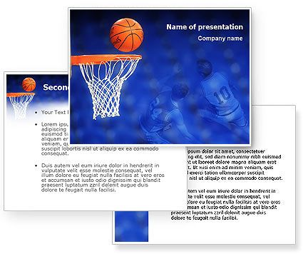 Download Basketball Match PowerPoint Template and background for - basketball powerpoint template