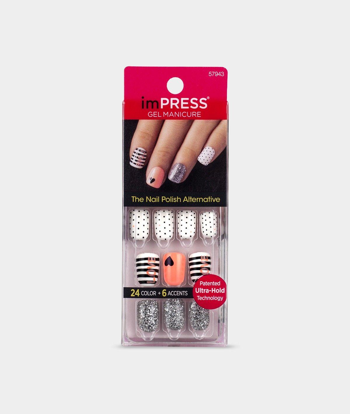 Impress press on manicure nails my style pinterest - Impress Gel Manicure Night Fever Press On Manicure Nails