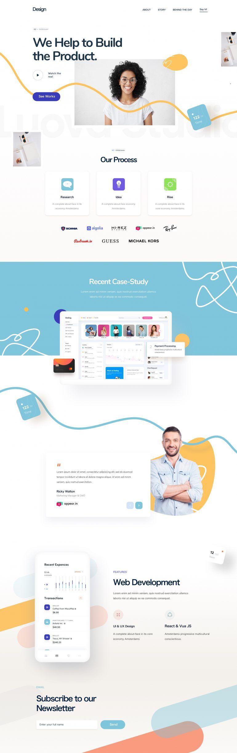 Sass Landing Page On Inspirationde Web Design Web Development Design Landing Page