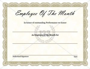Free Employee Of The Month Certificate Template Employee Of The Month  Template Best Business Template, Employee Of The Month Template Cyberuse,  ...  Free Employee Of The Month Certificate Template