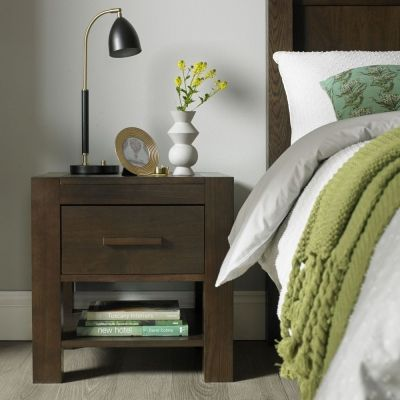 362b97ed8b Bentley Designs Lyon Walnut Bedside Table - 1 Drawer It s a classic  selection that offers uncompromising quality and versatility, with a sprung  slat bed ...