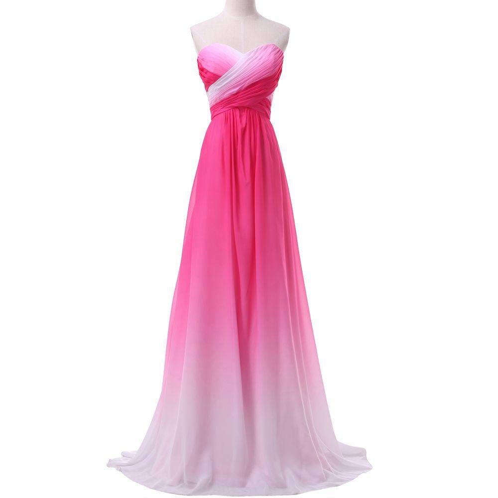 Ombre Rainbow Prom Dresses Long Grace Karin Chiffon Royal Blue Mint ...