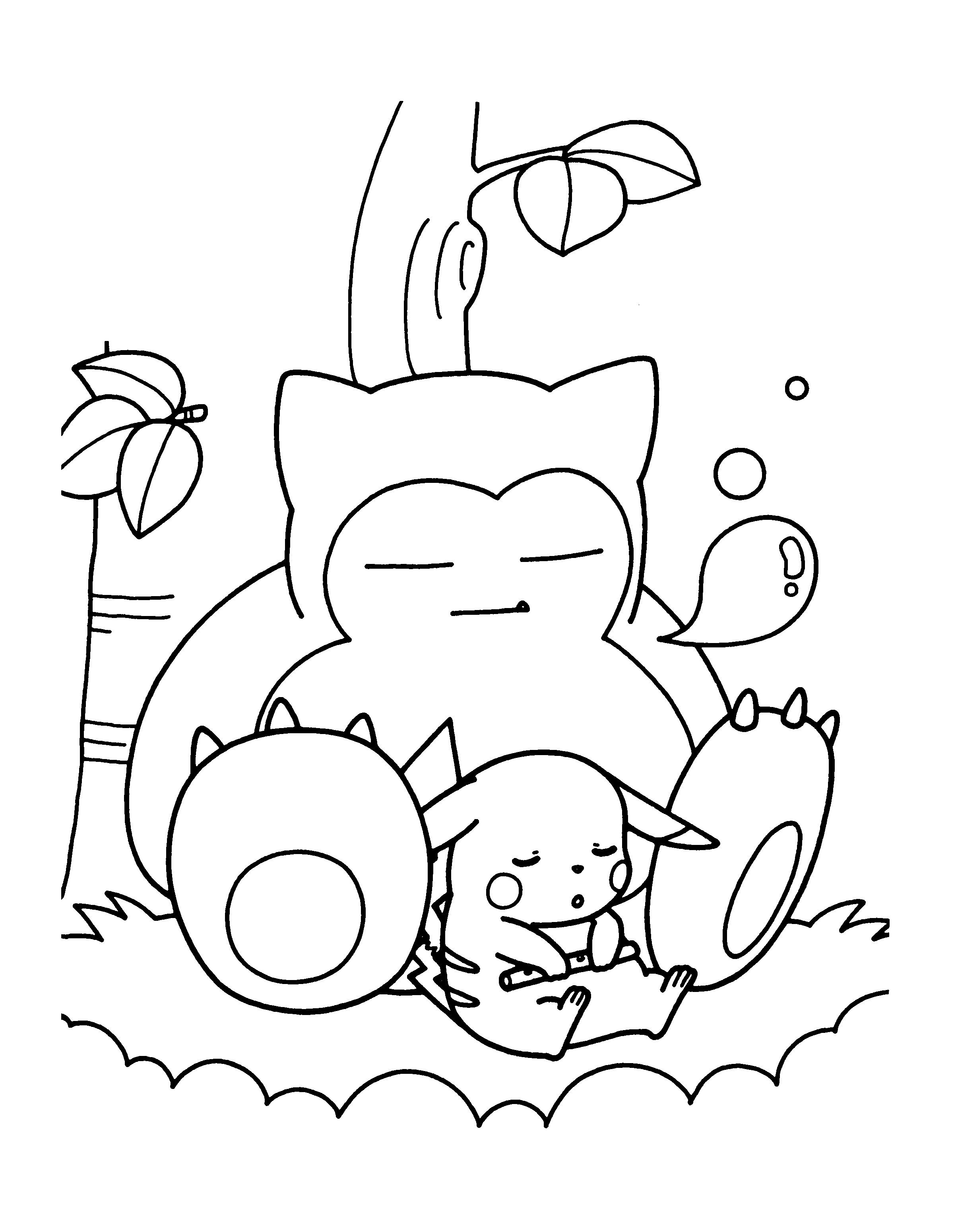 Pokemon Coloring Pages Snorlax With Images Pikachu Coloring Page Pokemon Coloring Pages Pokemon Coloring