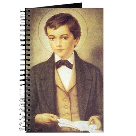 """Here is a sample of a product from the """"St. Dominic Savio"""" ( Any Christian Occasion ) collection. Check out this design in our Cafepress Store! (St. Dominic Savio Journal) http://www.cafepress.com/lacetonlimited/12537112"""