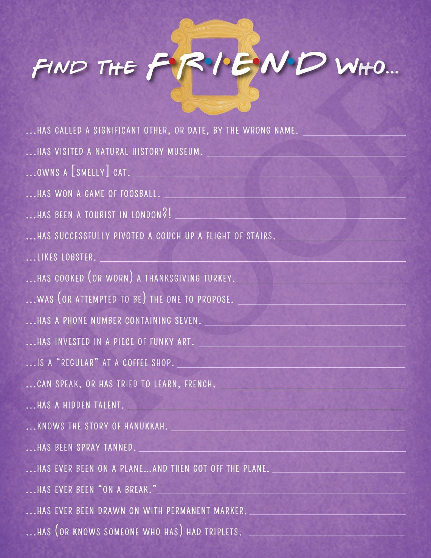 FRIENDS TV Show Find the Friend Friends TV Show Shower