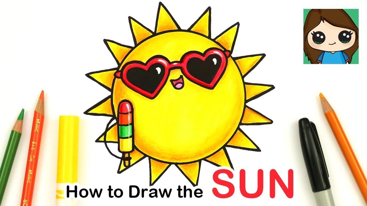 How To Draw The Sun Easy Summer Art Series 1 Summer Drawings Summer Art Cute Drawings