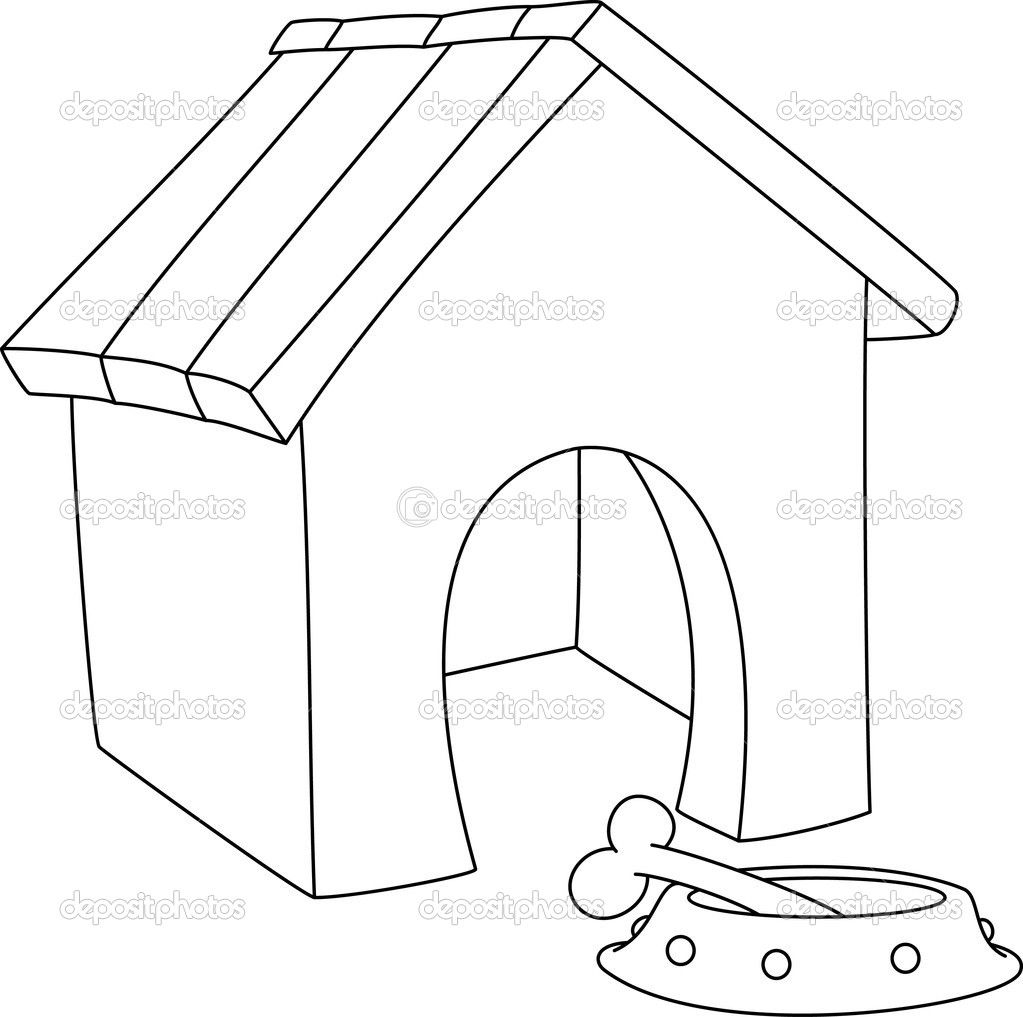 Depositphotos 19922227 Illustration Of A Dog House Outlined Jpg