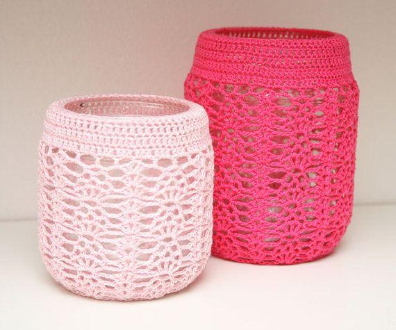 images about crochet / jar Crochet Jar Covers