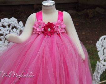 Coral Vestido Rosado Del Tutú Flor Chica Por