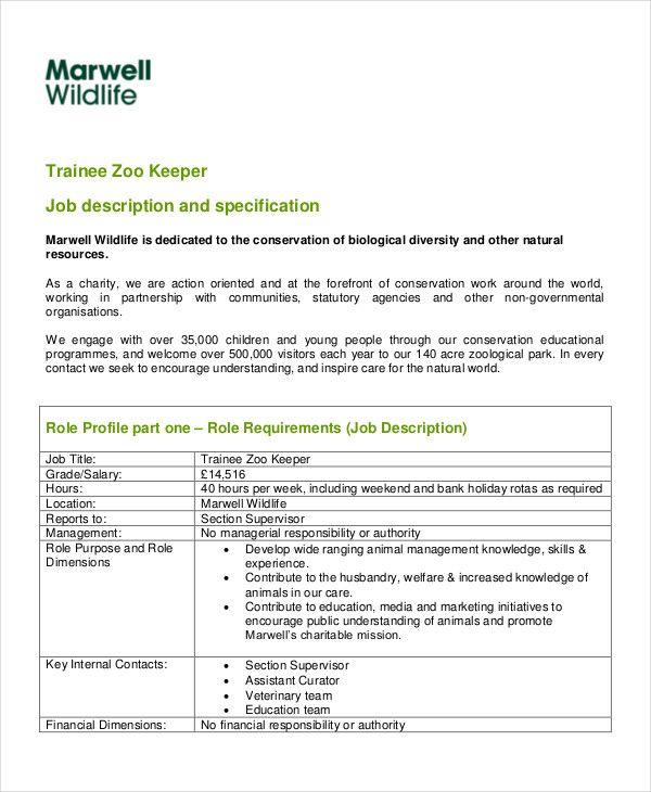 resume format zookeeper format resume zookeeper resume format
