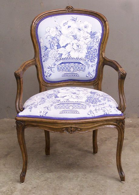 Exceptionnel 19th Century French Fruitwood Upholstered Arm Chair