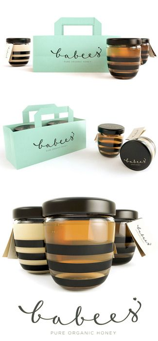 Babees pure organic honey packaging by Ah and Oh