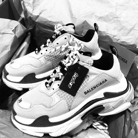 Black and White Balenciaga Shoes #women