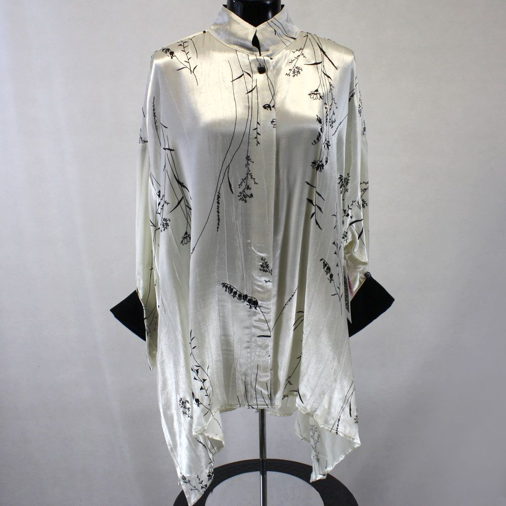 nwt carole tomkins the big shirt winter garden lucy blouse 1 10