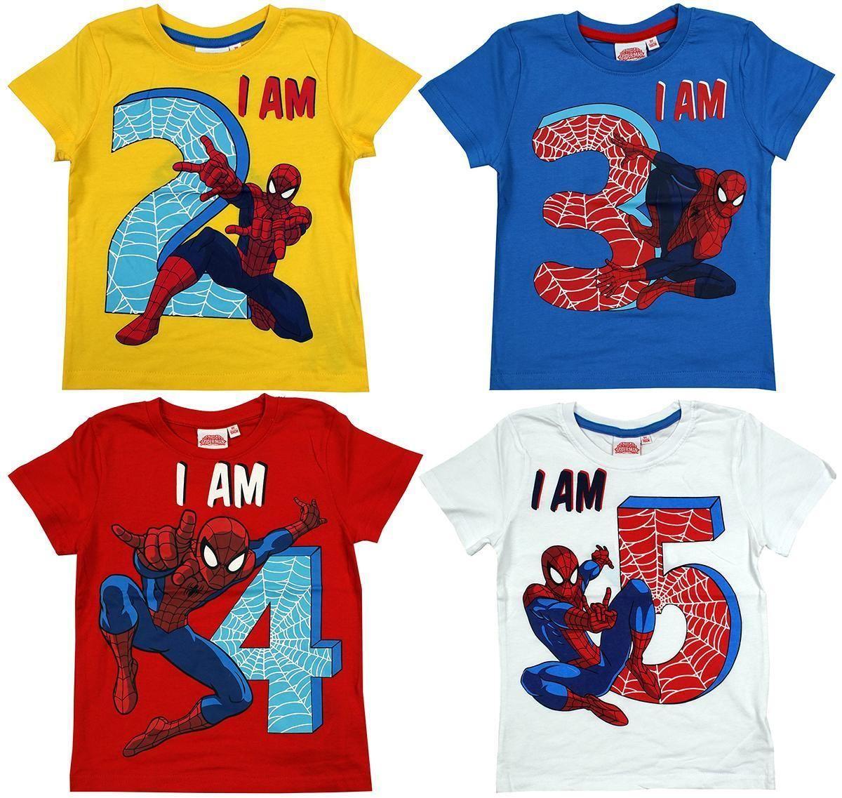 £4.99 GBP Boys TShirt Age Tee Spiderman Web Spidey