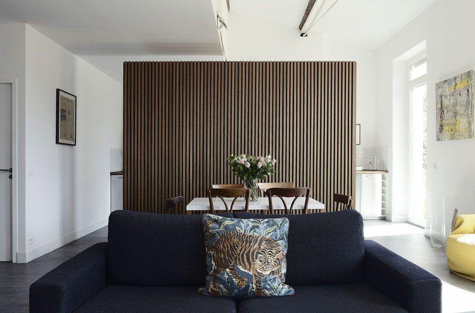 bertrand guillon architecture - architecte - marseille - appartement - mur en bois interieur