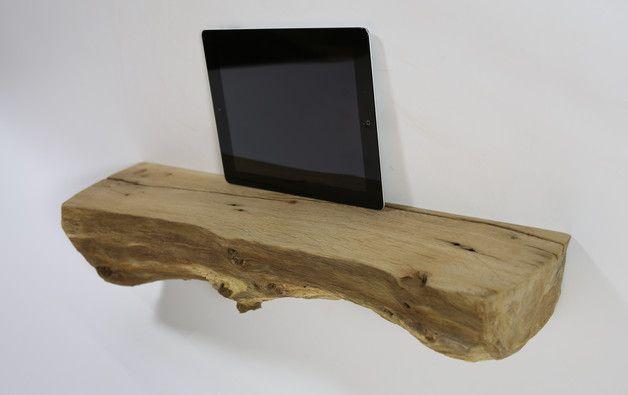 wandregale wandregal wandboard naturholz eiche board nr 94 ein designerstuck von baumwerk bei dawanda