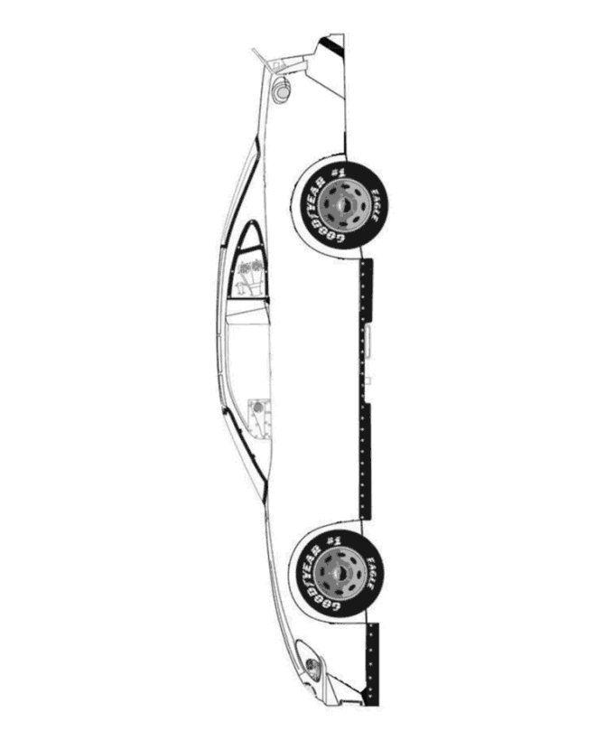 Car printable template | Race car blank   color your favorite