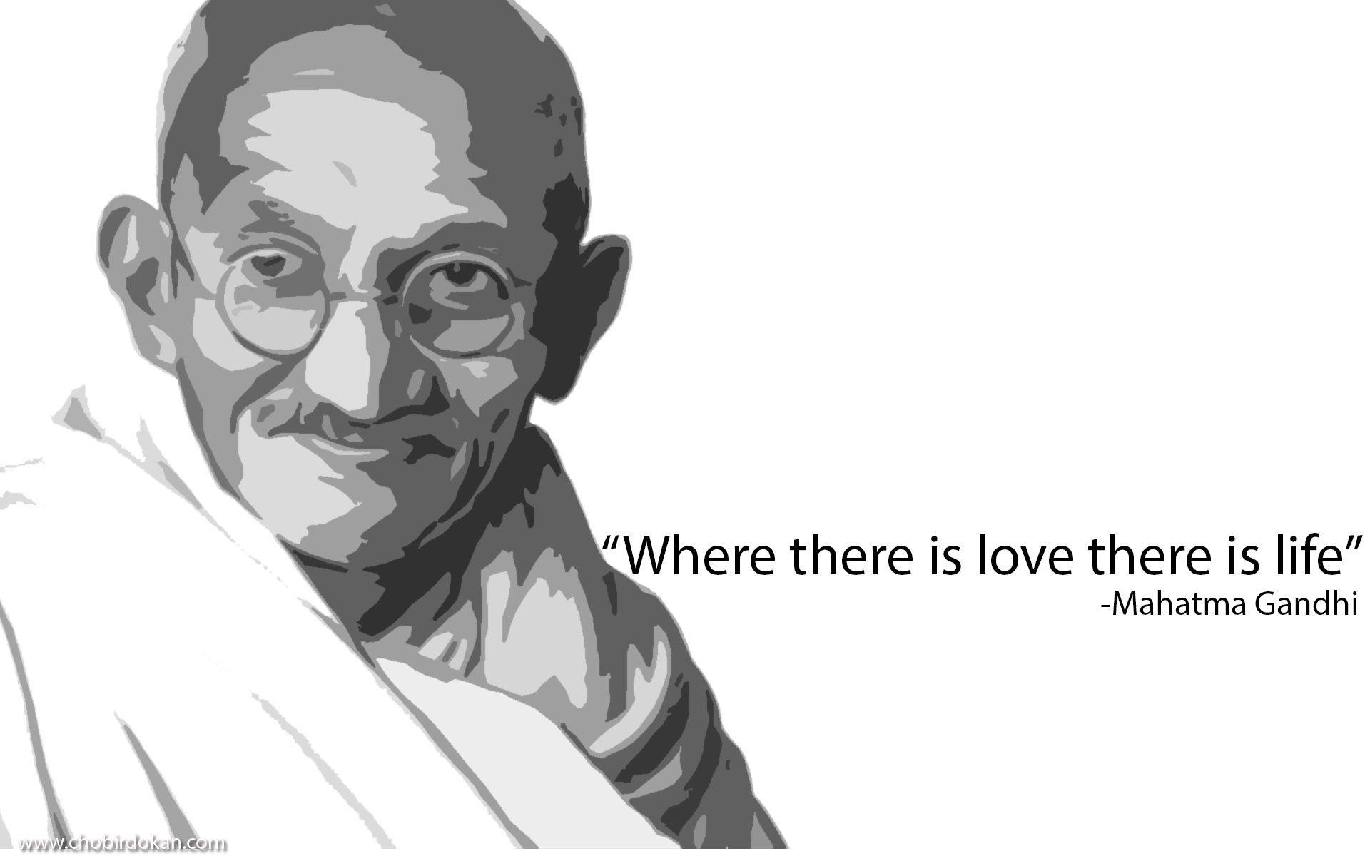 Gandhi Quotes On Love Best Mahatma Gandhi Quotes On Love  Cute Romantic & Sad Love