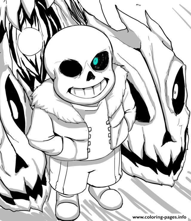 Print Cool Undertale By Aoshi7 Coloring Pages Coloring Pages Halloween Coloring Pages Halloween Coloring