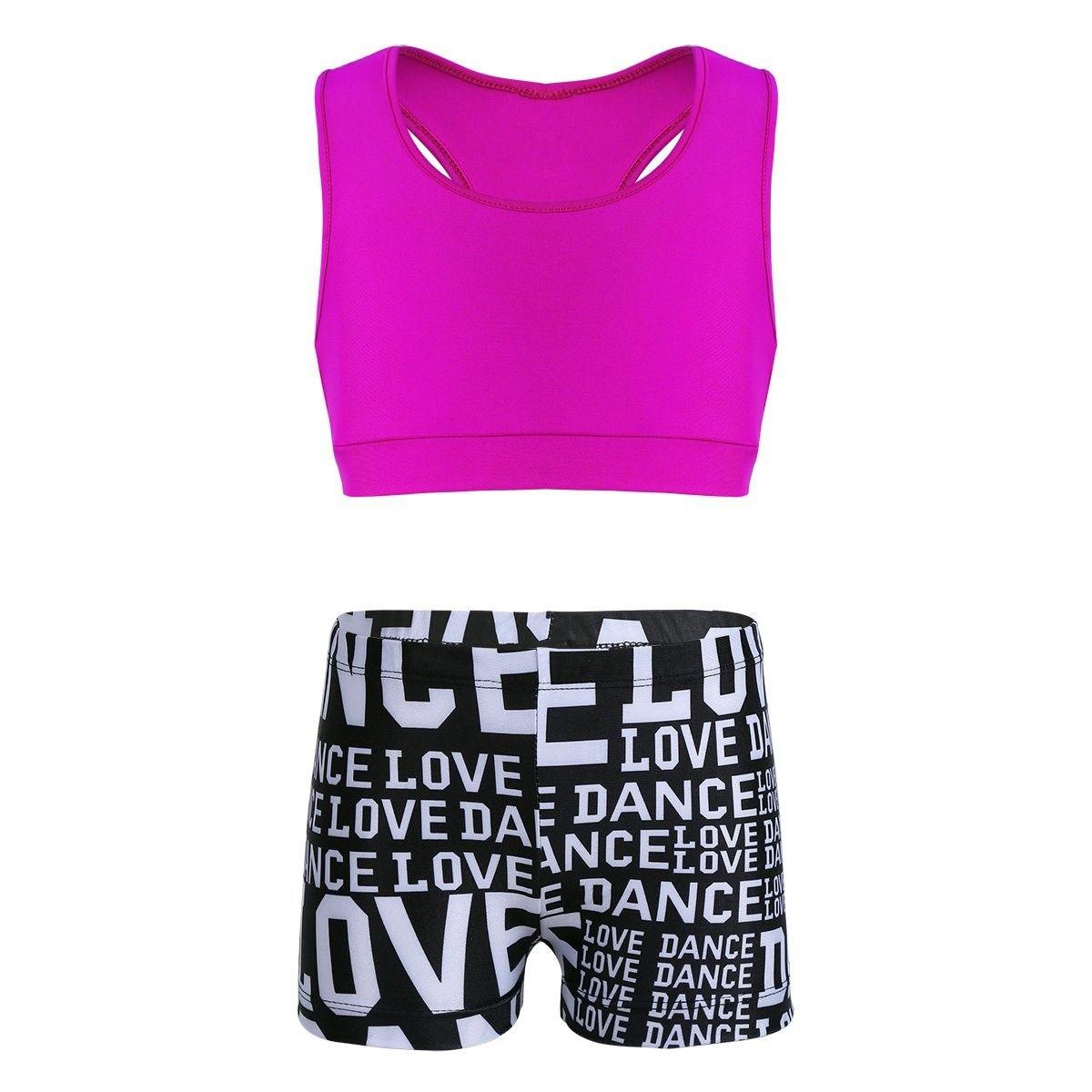 Girls Kids Ballet Gymnastics Tankini Tank Top Gym Sports Dancewear Swim Costume