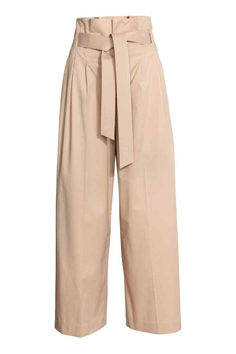 pantalon large avec ceinture beige femme h m fr pantalons pinterest pantalons larges. Black Bedroom Furniture Sets. Home Design Ideas