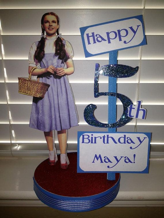 Wizard of Oz Dorothy Custom Birthday Party by DivineDecorations, $17.95